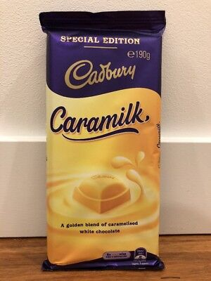 ❤︎ 1x Cadbury Caramilk 190g Block ❤︎ Free EXPRESS Post ❤︎ Rare & Non-Recalled ❤︎