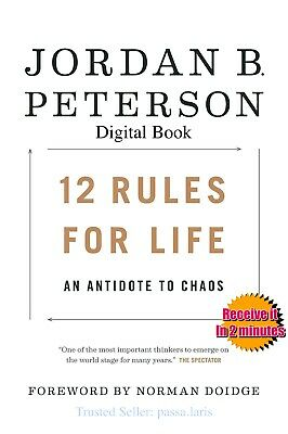 12 Rules for Life: An Antidote to Chaos by Jordan Peterson - DIGITAL BOOK/ AUDIO
