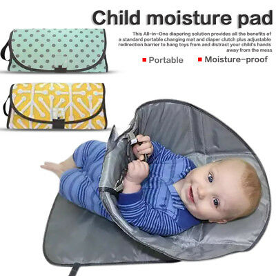 Clean Hands Changing Pad Portable Baby 3 in 1 Cover Mat Folding Diaper Bag AU