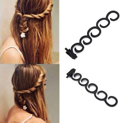 2x French Hair Accessory Braiding Tool Hook Magic Twist Styling Roller Bun Maker