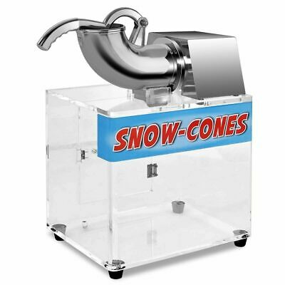 Electric Stainless Steel Ice Shaver Machine Crusher Snow Cone Maker