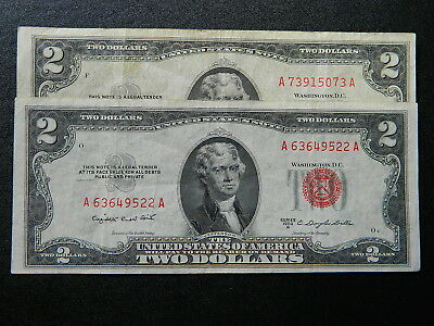 United States $2 1953 B Red seal