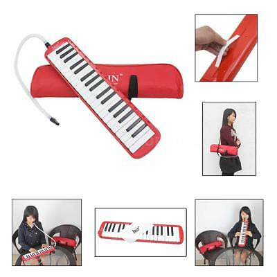 37 Piano Keys Melodica Pianica Musical Instrument for Students Kids Red O7H1