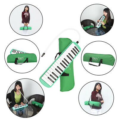 32 Piano Keys Melodica Musical Instrument for Beginner Gift Hi-quality Blue W7Y5