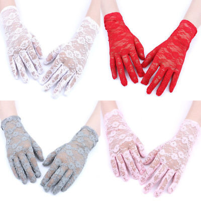 1Pair Fashion Lace Women Lady Party Wedding Wrist Hand Gloves Full Fingers