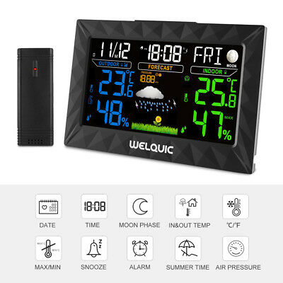 Color LCD Wireless Weather Station Outdoor Barometer Temperature Humidity&Sensor