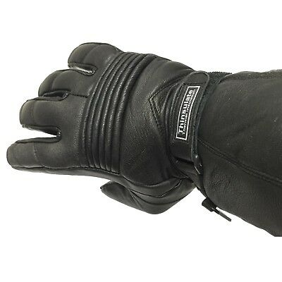 New Motorbike Winter Leather Gloves Thinsulate Thermal Lining Biker Gloves