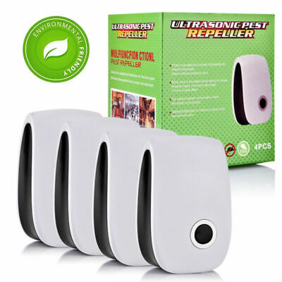 4pcs Ultrasonic Electronic Repeller Anti Mosquito Rat Mice Bug Fly Pest Control
