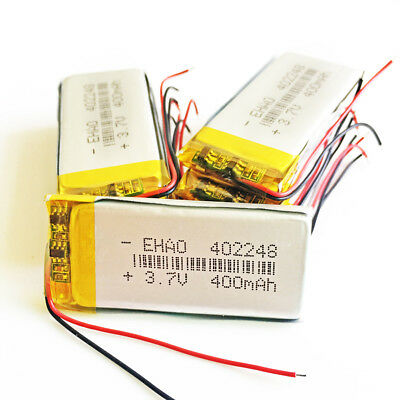 10 pcs 3.7V 400mAh Lipo Polymer Rechargeable Battery 402248 For DVD GPS Mp3