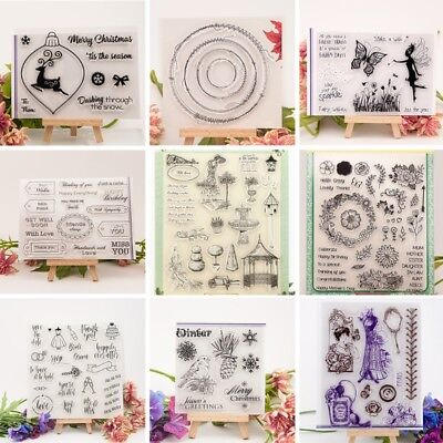 NEW Transparent Silicone Clear Rubber Stamp Sheet Cling Scrapbook Card DIY Decor