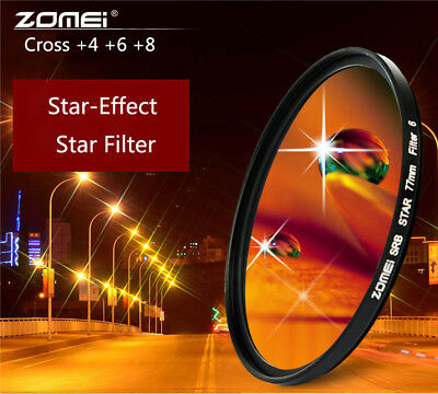 ZOMEI Point Star Filters Lens 58/67/72/77mm for DSLR SLR Camera Nikon Canon 468