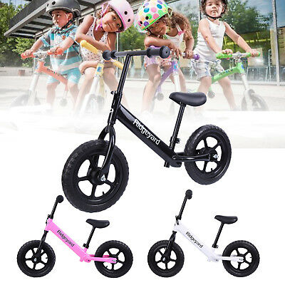 "Ridgeyard 12"" Kids Pre Bike Balance Bike Child Push No Pedal Scooter Training"