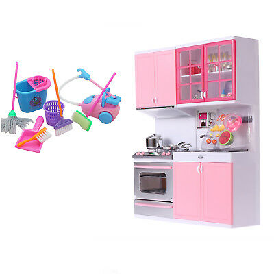 Kitchen Kids Cooking Pre-school Toys Cook Play Set for Children Boys Girls Gifts