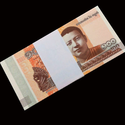 Full Bundle 100 PCS, Cambodia 100 Riels, 2014 / 2015, P-New, UNC
