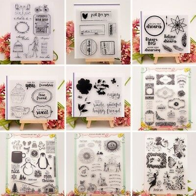 Transparent Silicone Clear Rubber Stamp Sheet Cling DIY Scrapbook Card Decor