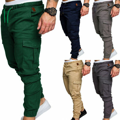 M-3XL Army Fashion Men's Cotton Combat Slim Fit Cargo Pant Work Pants Bottoms AU