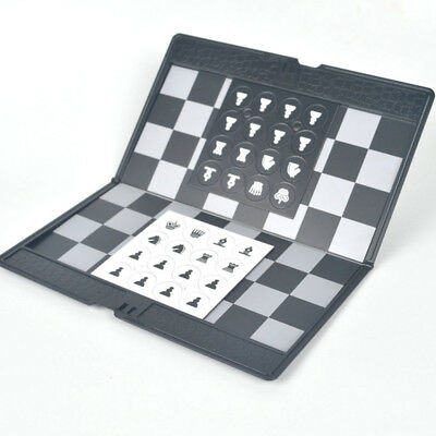 Magnetic International Chess Travel Portable Mini Foldable Wooden Chessboard Set