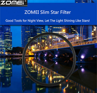 ZOMEI 58/67/72/77mm +4+6+8 Point Star Filters Camera Lens for Nikon Canon Sony #