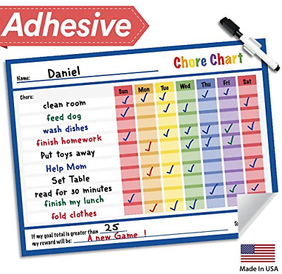 Dry Erase Reward C Chart Kids 14 5 X 11 Behavior Routine To Do Job Blue