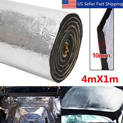 43sqft 10mm Sound Deadener Car Heat Shield Insulation Deadening Material Mat New