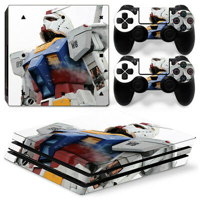 Gundam Skin For  playstation PS4 PRO Pro Stickers & 2 Controllers Skins