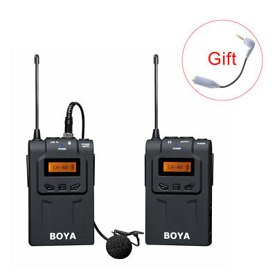 BOYA BY-WM6 Lavalier Clip Wireless Microphone System Mic UHF for Phone Camera