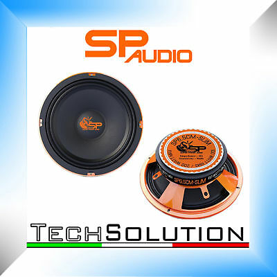 SP AUDIO SP6.5CM SLIM 4 OHM MIDRANGE 16,5 cm 100 WATT RMS COPPIA