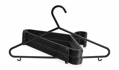 Black Plastic Hangers For Coats Tops Dress Shirts Strong Garment Clothes Hanger