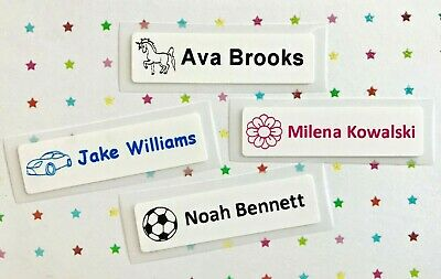 Iron On Name Tags / Name Labels **Magic Labels** Stretchy - use on socks, Lycra
