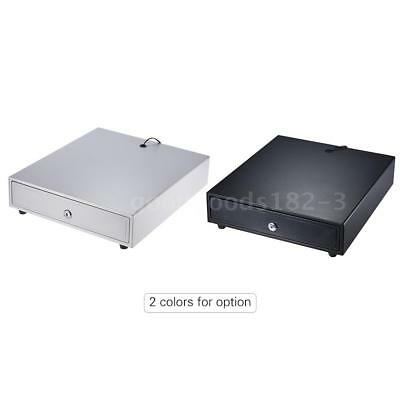 Heavy Duty Cash Drawer Cash Register POS 4 Bills 5 Coin Trays Manual/Electronic