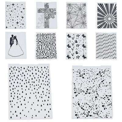 Plastic Embossing Folder Dots Raindrop Footprint Scrapbooking Novelty Handcrafts