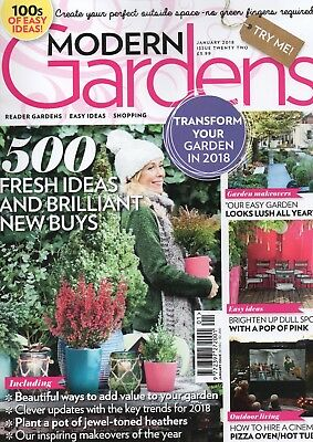 Modern Gardens Magazine - January 2018 (BN/SEALED)