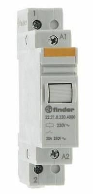 Finder SPNO Non-Latching Relay DIN Rail, 230V Coil, 20 A