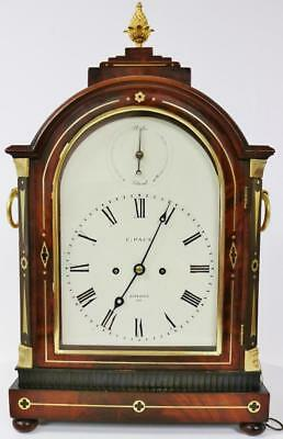 London English Twin Fusee Mahogany 8 Day Arched Top Striking Bracket Clock 1820