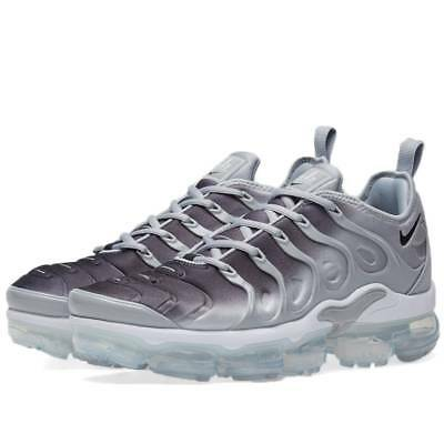 Nike Air Vapormax Plus Wolf Grey 924453-007 Silver Gradient Running Shoes NIB