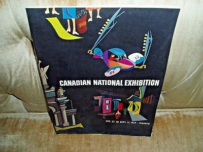 1954 Canadian National Exhibition Program Includes Grounds Map Toronto