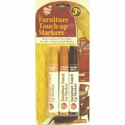 New Furniture Touch Up Pen Markers to repair Laminate Wood Floor Scratches 3 pen