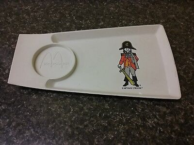 Pirate Captain Crook Sword McDonalds Happy Meal Plastic Snack Tray 1980s Vtg