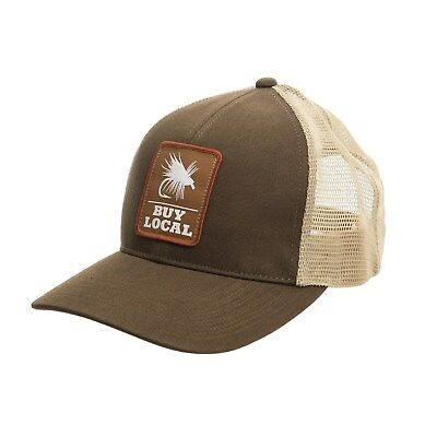 6a1192bfe6c Simms Fishing Buy Local Trucker Patch Hat Cap Simms Acorn Color - NEW!