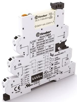 Finder 39 Series[Blank] 24V ac/dc DIN Rail Interface Relay Module, SPDT, Push In