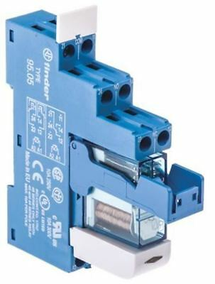 Finder 48 Series[Blank] 12V dc DIN Rail Interface Relay Module, DPDT, Screw