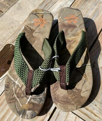 74ac88af0ef7d5 New Realtree AP Xtra womens Camo Camoflauge wedge Sandals flip flops size 10