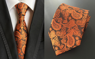 Tie Black Silk Mens Paisley Woven Classic 2018 Wedding Necktie JACQUARD New  02