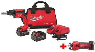 Milwaukee M18 FUEL 18-V Lithium-Ion Cordless Drywall Screw Gun Kit with Cut Out