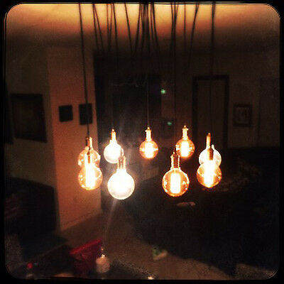 Modern Hanging Chandelier with 9 pendant lights - Swag Chandelier Antique Bulbs