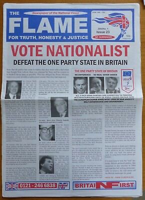 The Flame - Newspaper of the National Front (NF) - Issue 23 - No. 1 of 2004