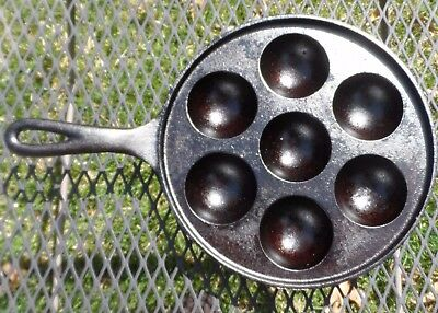 Western Importing Co by Griswold Cast Iron Munk Pan P/N2992 1920-30s Aebleskiver