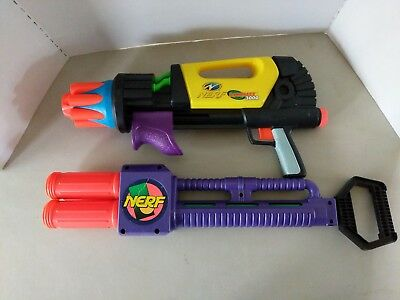 lot of 2 vintage Nerf guns