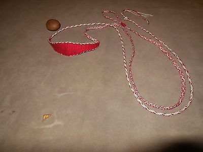 Quality Hand Woven Primitive Egyptian Style King Tut Rock Sling (Red Poc) by APE
