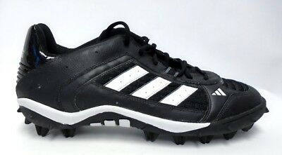 ADIDAS CORNER BLITZ MD Low Black and White Football Cleats Size 12.5
